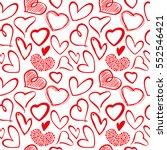 love heart seamless vector... | Shutterstock .eps vector #552546421