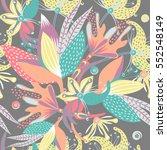 floral seamless pattern. hand...   Shutterstock .eps vector #552548149
