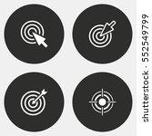 target vector icon. white... | Shutterstock .eps vector #552549799