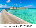 beautiful water villas in... | Shutterstock . vector #552551065