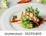 chicken breast with vegetables | Shutterstock . vector #552551845