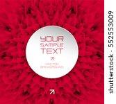 design and art element   red... | Shutterstock .eps vector #552553009