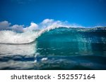 front view of big ocean wave in ... | Shutterstock . vector #552557164