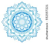 mandala in blue colors. round... | Shutterstock .eps vector #552557221