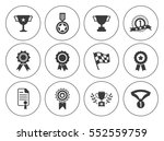 winner icons  | Shutterstock .eps vector #552559759