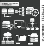 database and network icon set... | Shutterstock .eps vector #552561151