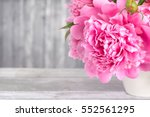 Bouquet Of Pink Peonies In A...