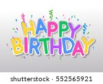 concept for greeting vector... | Shutterstock .eps vector #552565921