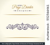 new calligraphic page divider... | Shutterstock .eps vector #552566461