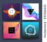 music album  graphic color wave ... | Shutterstock .eps vector #552566641