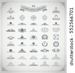 luxury royal logo set. crest ... | Shutterstock .eps vector #552566701