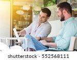 two westerner business men...   Shutterstock . vector #552568111