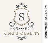luxury logo template flourishes ... | Shutterstock .eps vector #552573691