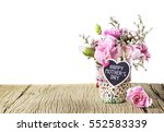 happy mothers day letter on... | Shutterstock . vector #552583339
