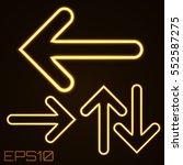 neon contour arrows set. vector ... | Shutterstock .eps vector #552587275