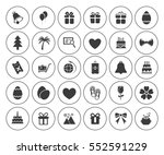 holiday icons set | Shutterstock .eps vector #552591229