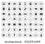 school icons set | Shutterstock .eps vector #552591499