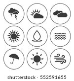 weather icons  | Shutterstock .eps vector #552591655