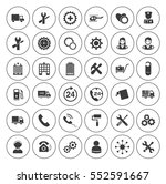service icons set | Shutterstock .eps vector #552591667