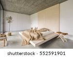 light bedroom with wooden... | Shutterstock . vector #552591901