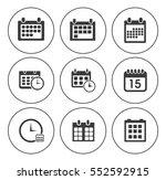 calendar icons  | Shutterstock .eps vector #552592915