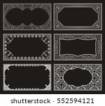 vintage black set retro cards.... | Shutterstock .eps vector #552594121