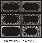 vintage black set retro cards....   Shutterstock .eps vector #552594121