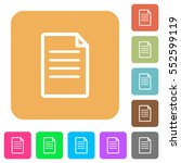 document flat icons on rounded... | Shutterstock .eps vector #552599119