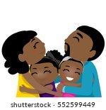 illustration of black family... | Shutterstock .eps vector #552599449