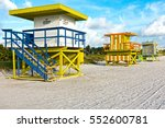 art deco lifeguard stands... | Shutterstock . vector #552600781