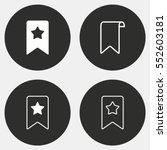 bookmark vector icon. white... | Shutterstock .eps vector #552603181