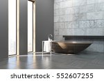side view of a bathroom... | Shutterstock . vector #552607255
