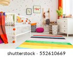 newborn room in scandi style... | Shutterstock . vector #552610669