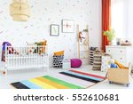 infant room in scandinavian... | Shutterstock . vector #552610681