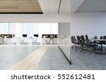 Meeting Room With A Glass Wall...
