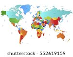 world map countries vector on...   Shutterstock .eps vector #552619159