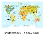 vector map of the world with... | Shutterstock .eps vector #552624331