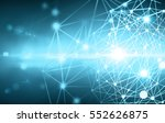 abstract connected dots on... | Shutterstock . vector #552626875