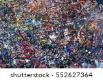 part of the wall covered with... | Shutterstock . vector #552627364