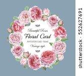 vintage floral greeting card... | Shutterstock . vector #552627691