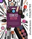 cosmetics products  fashion... | Shutterstock .eps vector #552629785