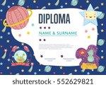 diploma cartoon template.... | Shutterstock .eps vector #552629821