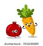 cute fruit and vegetable... | Shutterstock .eps vector #552630085