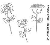 vector set of rose | Shutterstock .eps vector #552630529