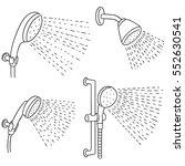 vector set of shower | Shutterstock .eps vector #552630541