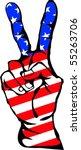 Peace Sign With Usa Flag