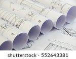 floor plan designed building on ... | Shutterstock . vector #552643381