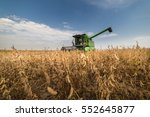harvesting of soybean field... | Shutterstock . vector #552645877