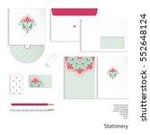 templates. envelope  cards ... | Shutterstock . vector #552648124