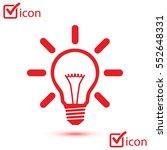 light lamp sign icon. idea bulb ... | Shutterstock .eps vector #552648331